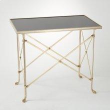 Rectangular Directoire Table-Brass/Black Granite