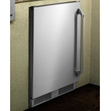 "Epicure 24"" Outdoor Refrigerator, in Stainless Steel with Left-Hand Door Swing"
