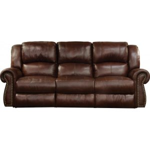 Power Headrest Lay Flat Reclining Console Loveseat