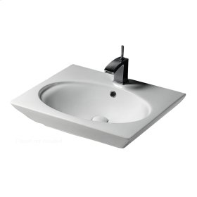 "Opulence Wall-Hung Basin - ""Hers"" - White"