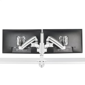 Chief ManufacturingKX Low-Profile Dual Monitor Arms, Column Desk Mount, White