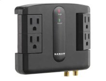 Low-Profile Surge Protector Designed for use behind wall mounts and AV furniture