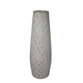 """Ceramic 16.5"""" Weave Vase, Beige"""