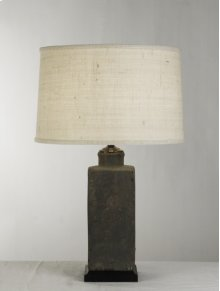 "Pottery Lamp 16"" Cream Shade"