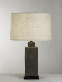"""Pottery Lamp 16"""" Cream Shade"""