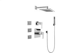 Full Thermostatic Shower System with Transfer Valve (Rough & Trim)