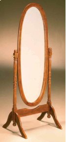 Oak Cheval Mirror Product Image