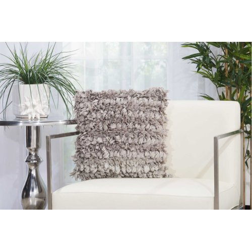 "Shag Dl058 Grey 16"" X 16"" Throw Pillows"