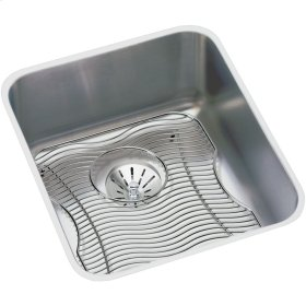 """Elkay Lustertone Classic Stainless Steel 16"""" x 18-1/2"""" x 7-7/8"""", Single Bowl Undermount Sink Kit with Perfect Drain"""