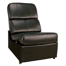 Brown No Arm Reclining Chair