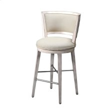 Counter Stool, Grey Fabric Leeward Peninsula Finish Counter and Bar Stool