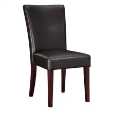 "Brown Bonded Leather Parsons Chair, 20-1/2"" Seat Height"