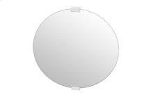 Round Mirror With Wood Brackets