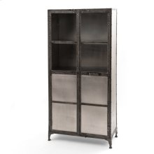 Antique Nickel Finish Element Cabinet