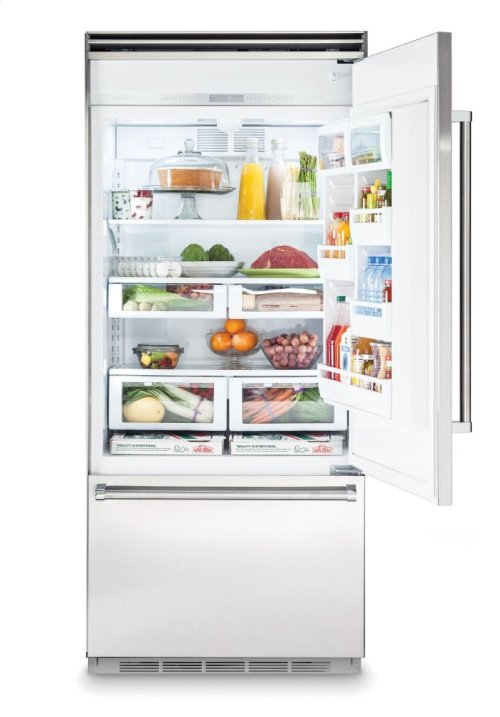 "36"" Bottom-Freezer Refrigerator, Left Hinge/Right Handle"