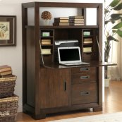 Riata - Computer Armoire - Warm Walnut Finish