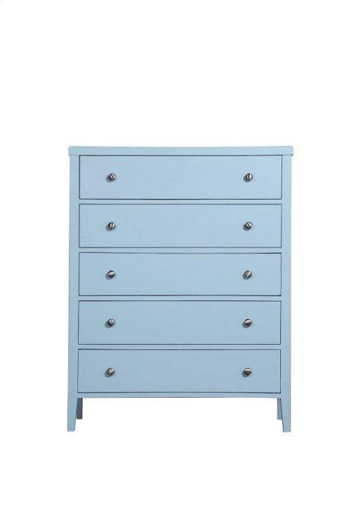 Emerald Home Home Decor 5 Drawer Chest-pastel Blue B371-05blu