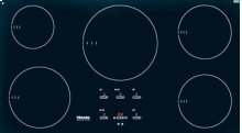 """36"""" 5-Burner KM 5773 Induction Cooktop - Induction Cooktop with Demeyere Cookware Set"""