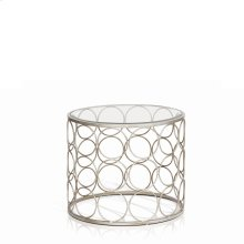 Bacall Round Clear Glass End Table