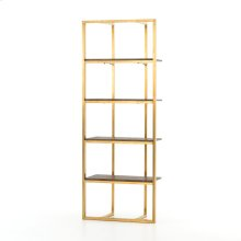 Polished Brass Finish Grainger Bookshelf