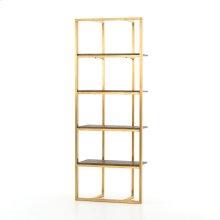 Polished Brass Finish Grainger Bookshelf