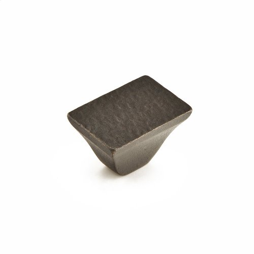 "Vinci, Rectangular Knob, Black Bronze, 1-1/4"" dia"