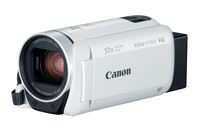 Canon VIXIA HF R800 White HD Camcorder High Definition Personal Camcorder