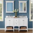 "Shaker Americana 60"" Open Shelf Modular Vanity - Polar White Product Image"