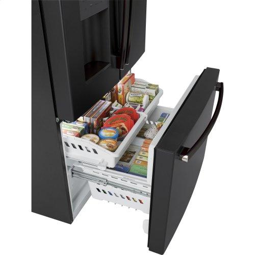 """GE 36"""" Bottom mount French door refrigerator, 25.5 cu.ft"""