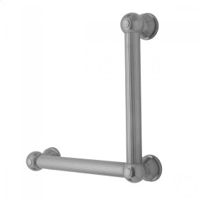 Polished Nickel - G33 12H x 24W 90° Left Hand Grab Bar