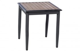 "Oden 19"" Square Alum. / Polywood Side Table"