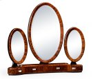 Art Deco Style Triple Dressing Mirror with Stainless Steel Product Image