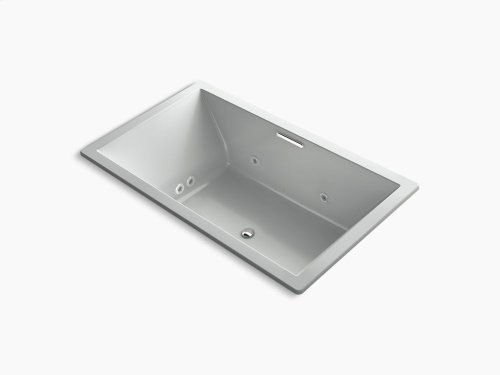 """Ice Grey 72"""" X 42"""" Drop-in Whirlpool + Bubblemassage Air Bath With Center Drain"""
