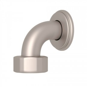 Satin Nickel Perrin & Rowe Top Return Elbow For Exposed Thermostatic Valves