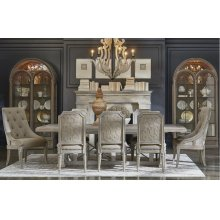 Arch Salvage Pearce Dining Room Set: Table with 4 Side Chairs and 2 Host Chairs