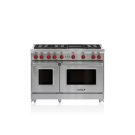"48"" Gas Range - 6 Burners and Infrared Charbroiler Product Image"