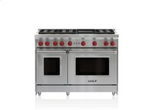 """48"""" Gas Range - 6 Burners and Infrared Charbroiler"""