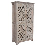 Bengal Manor Mango Wood Hand Carved Open Design 2 Door Tall Cabinet Product Image