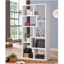 Casual White Bookcase