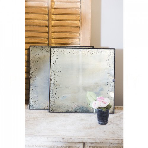 Small Antiqued Mirror Tile