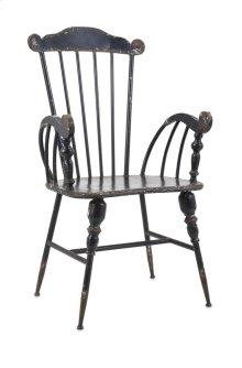 Trenton Black Metal Arm Chair