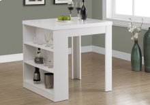 "DINING TABLE - 32""X 36"" / WHITE COUNTER HEIGHT"