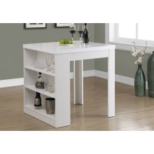 """DINING TABLE - 32""""X 36"""" / WHITE COUNTER HEIGHT"""