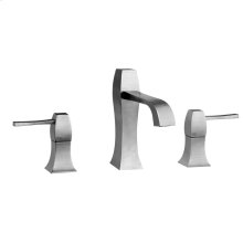 "Widespread washbasin mixer with pop-up assembly Spout projection 5-3/16"" Height 6-9/16"" Includes drain Max flow rate 1"
