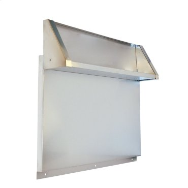"Tall Backguard with Dual Position Shelf - for 36"" Range or Cooktop"