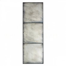 Three Panel Large Antiqued Mirror