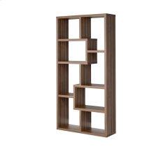 Transitional Walnut Bookcase