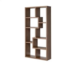 Transitional Walnut Bookcase
