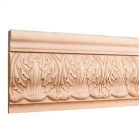 """5-3/4"""" x 1-1/4"""" x 96"""" Hand Carved Moulding. Species: Basswood. Priced by the linear foot and sold in 8' sticks in cartons of 80'."""