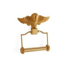 Antique Gold Cherub Paper Holder